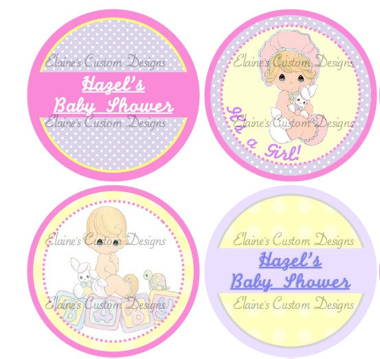 printable precious moments baby shower cupcake toppers
