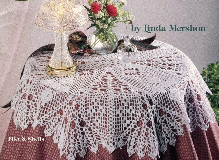 Free Crochet Patterns Round Table Toppers : Popular items for table topper crochet on Etsy