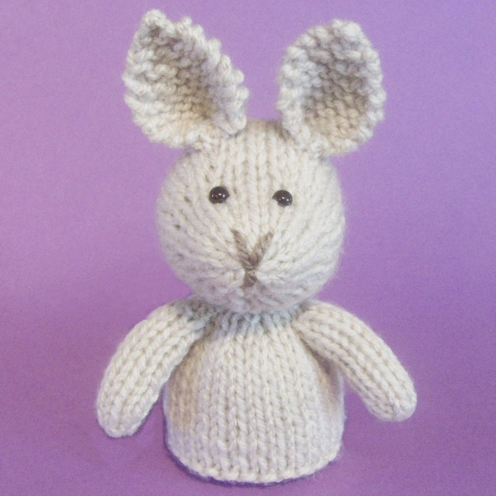 Rabbit Toy Knitting Pattern PDF by Jellybum on Etsy