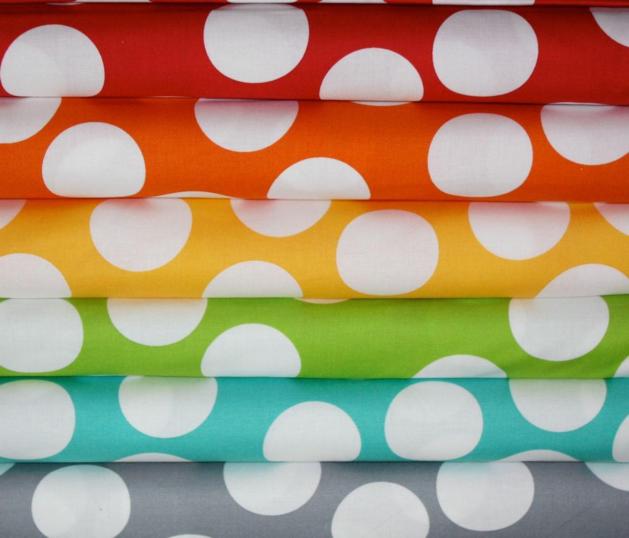 crib sheet in big polka dots by half moon custom by iviebaby