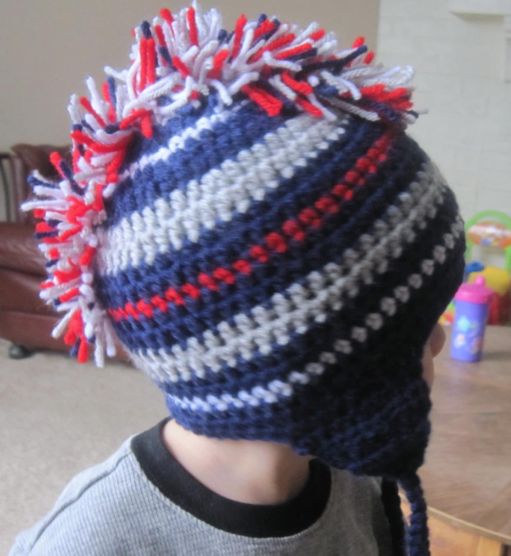 Items similar to Crochet Mohawk Hat - Newborn-Adult ...