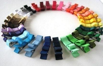 You Pick 10- Tuxedo Bow Clippies