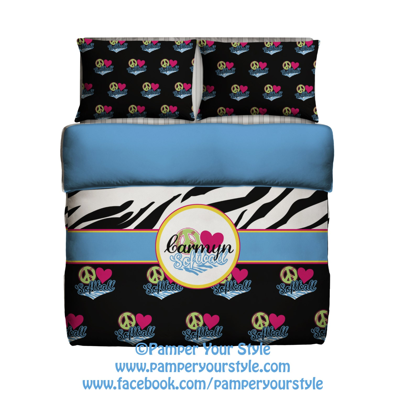 softball bedding peace love soft ball bedroom zebra bed