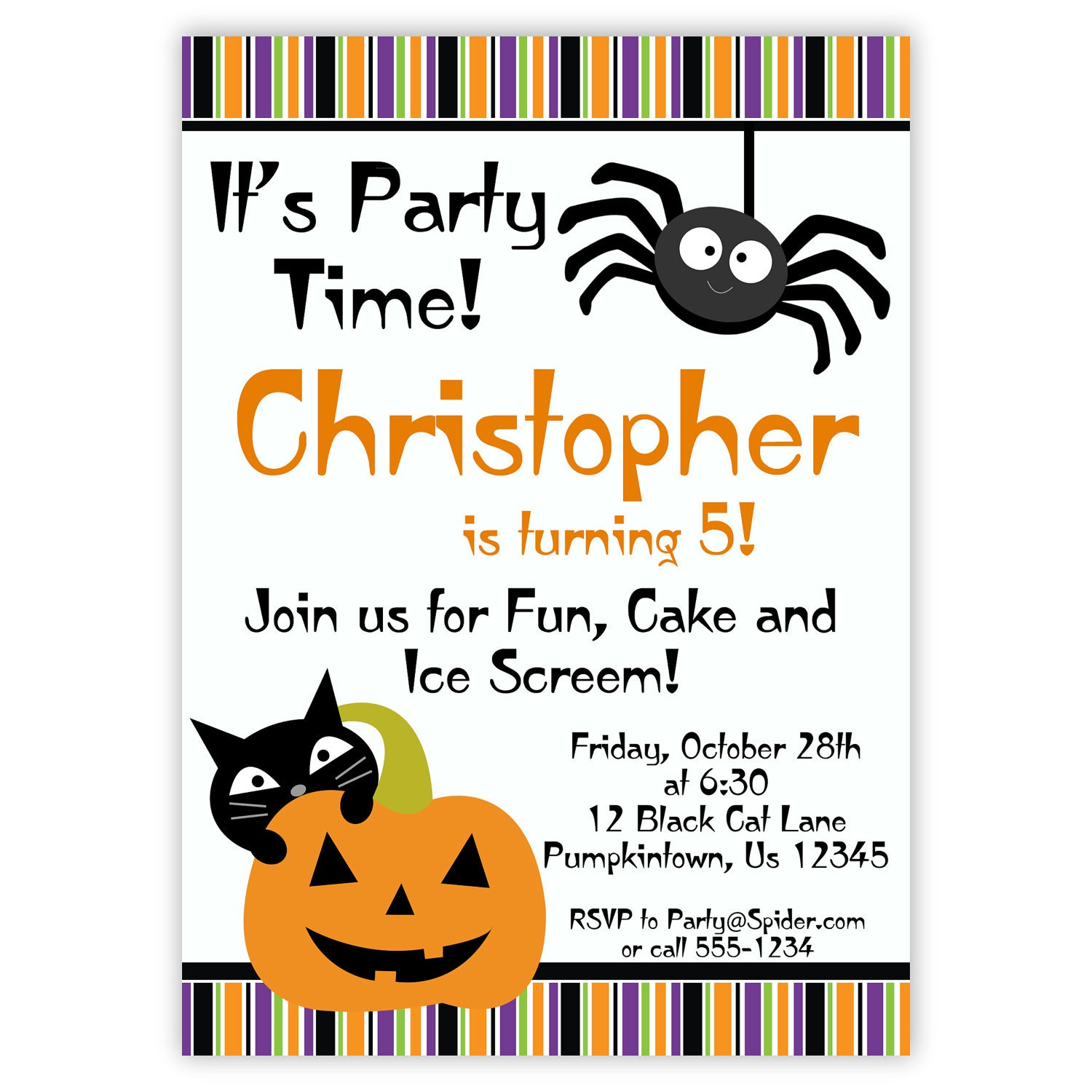 Halloween Printable Party Invitations Pictures to Pin – Halloween Party Invitation Printable Free