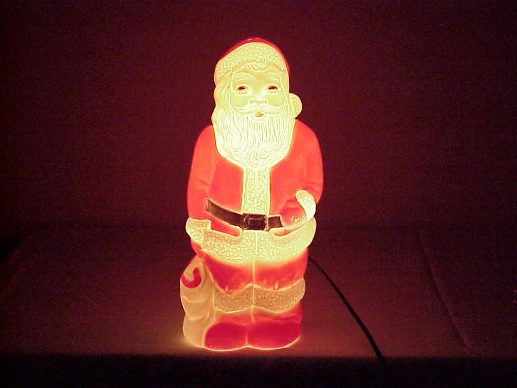 Vintage lighted blowmold santa claus union by midlandmom