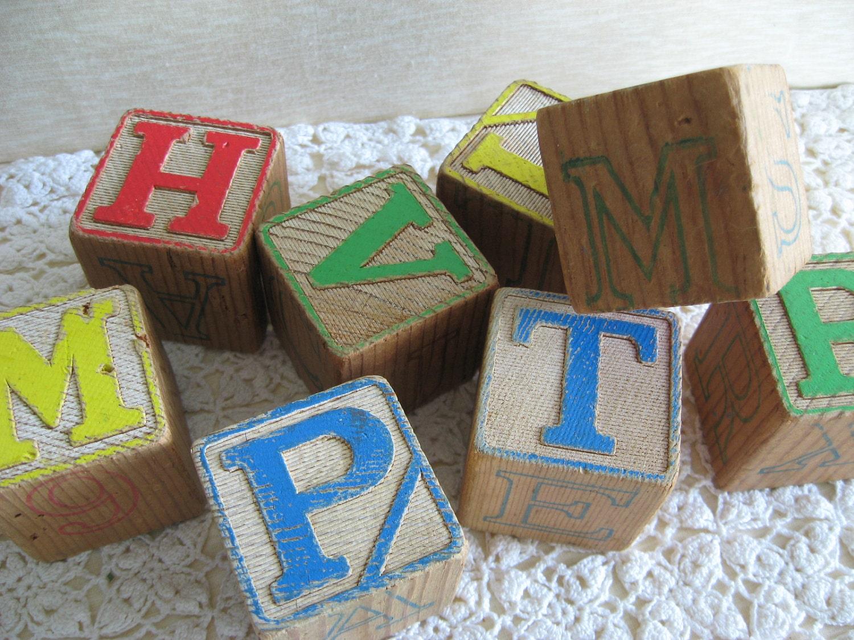 Big Wood Blocks ~ Large wooden letter blocks