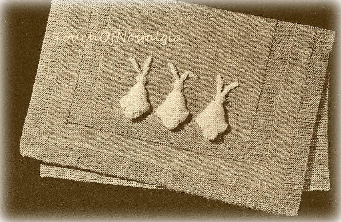 Vintage Knitting Pattern Baby Blanket : Baby Blanket Vintage Knitting Pattern by touchofnostalgia7