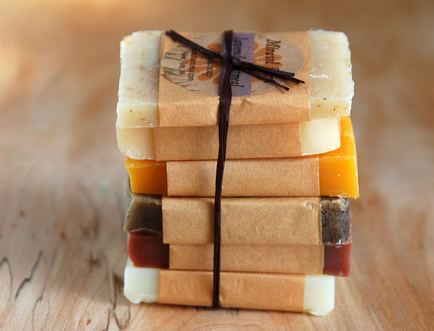 Organic Soap Sample Pack. Soap samples for guests or gifts. 6 travel soaps. Vegan soap. Natural and botanical. - mirasolfarm
