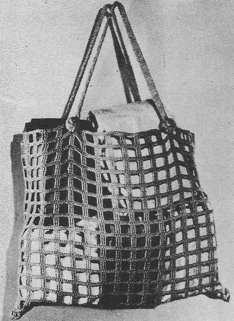 1947 Market Shopping Bag Vintage Crochet Pattern PDF by annalaia