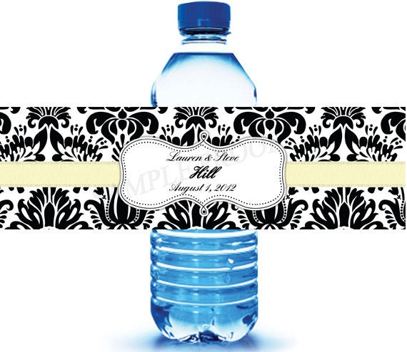 100 wedding water bottle labels wedding water labels