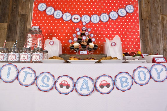 Baby Shower Banner - Baby Shower Decorations, Car Theme Baby Shower ...