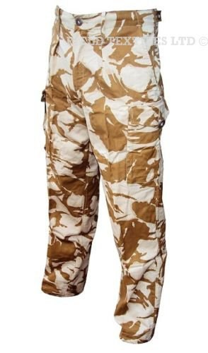 DesertSand Combat Tropical Trousers  Size Small Medium Large  British Army