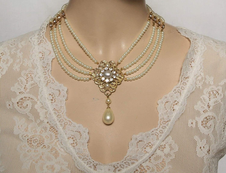 Remarkable Vintage Pearl Bridal Choker Necklace 1500 x 1145 · 362 kB · jpeg