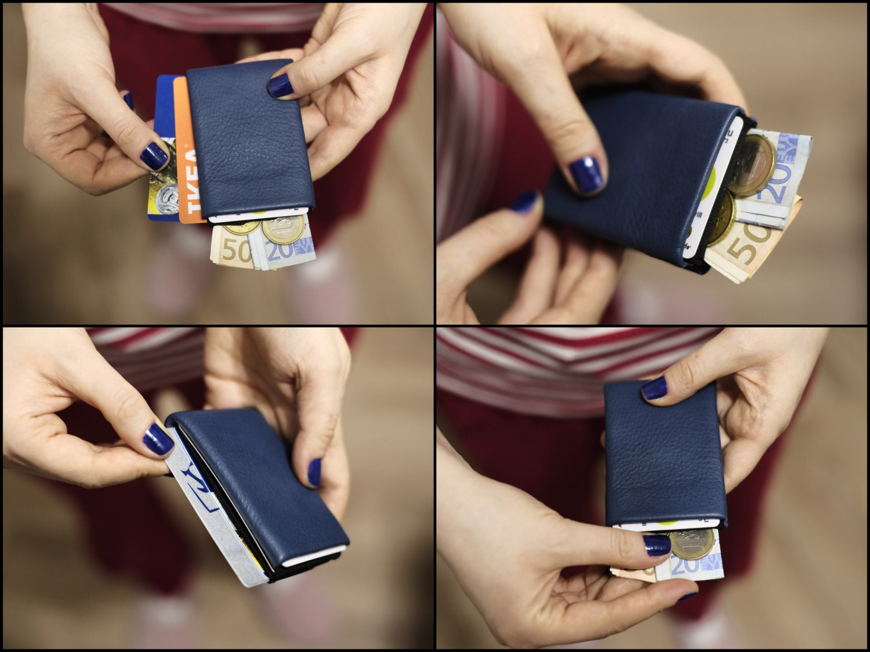 Limited Edition  Minimalist Wallet Womens Wallet Mens Wallet Slim Wallet Nero Original  Full Grain Leather Wallet  RFID Wallet