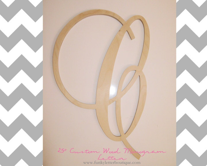Wwwfunkyletterboutiquecom on etsy for Where to buy wooden letters for nursery