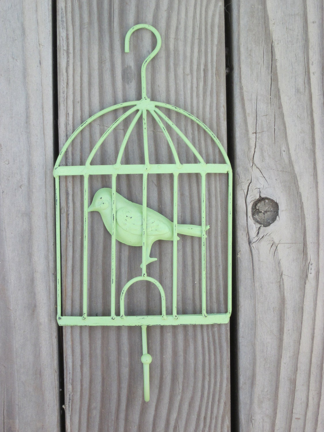 Shabby Chic Green Metal Bird Cage Home Decor Wall By