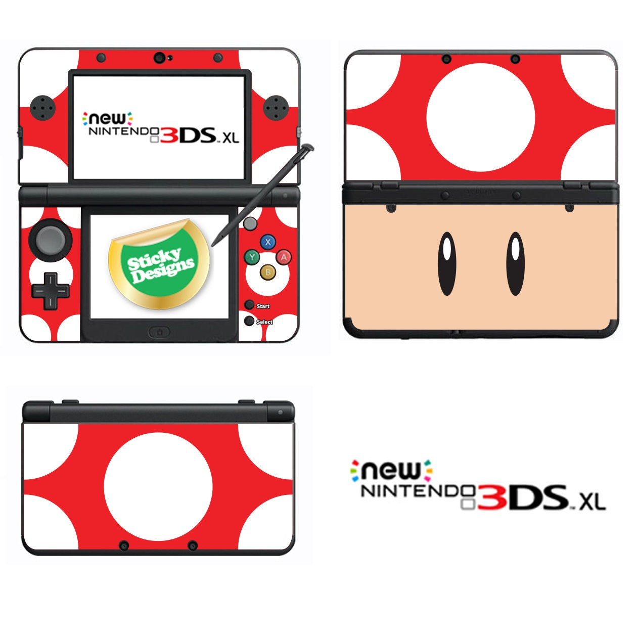 Mario Toad Vinyl Skin Sticker for Nintendo DS liteDSiDSi xl3DS3DS xlNew 3DS cstickNew 3DS xl cstick2DS