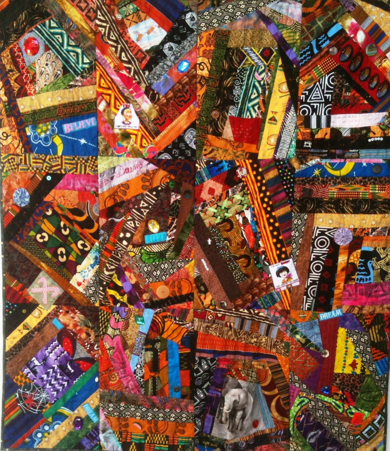 Summer sale dream like crazy art quilt by ovbrantleyquilts for Art sites like etsy
