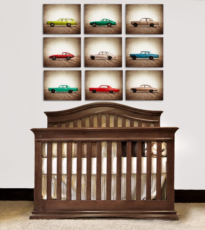 On sale vintage matchbox cars set of nine photo by for Antique car decor