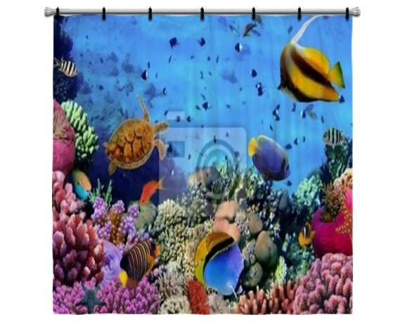Coral reef shower curtain 2