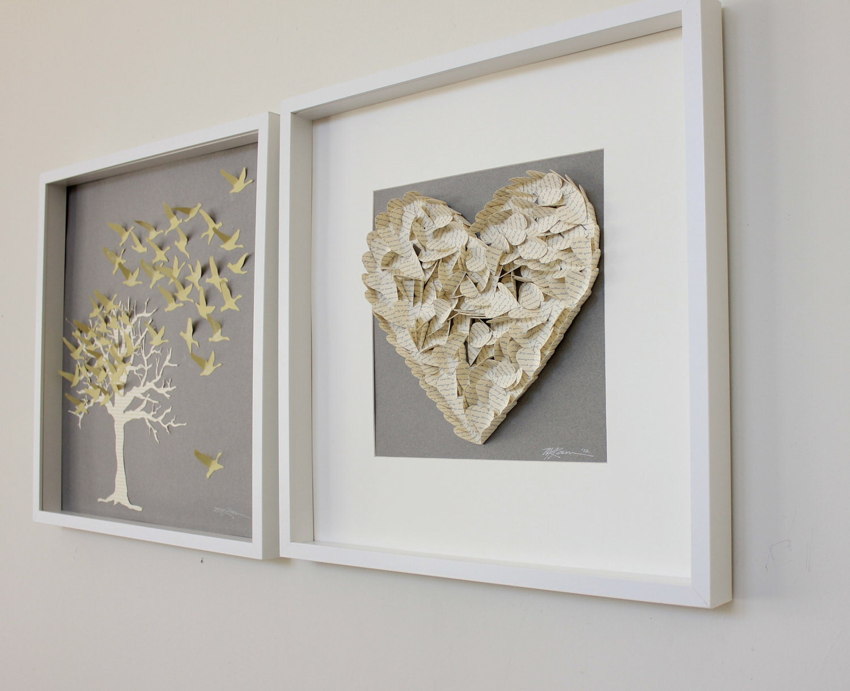 Alternative Wedding Gift Ideas : Bridal Shower Guest book gift- Alternative framed hearts made from ...