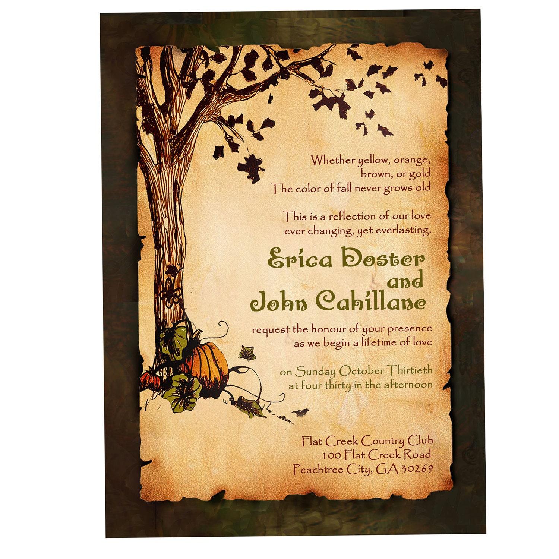 Vintage Rustic Pumpkin And Autumn Tree Wedding By Inkdbykate