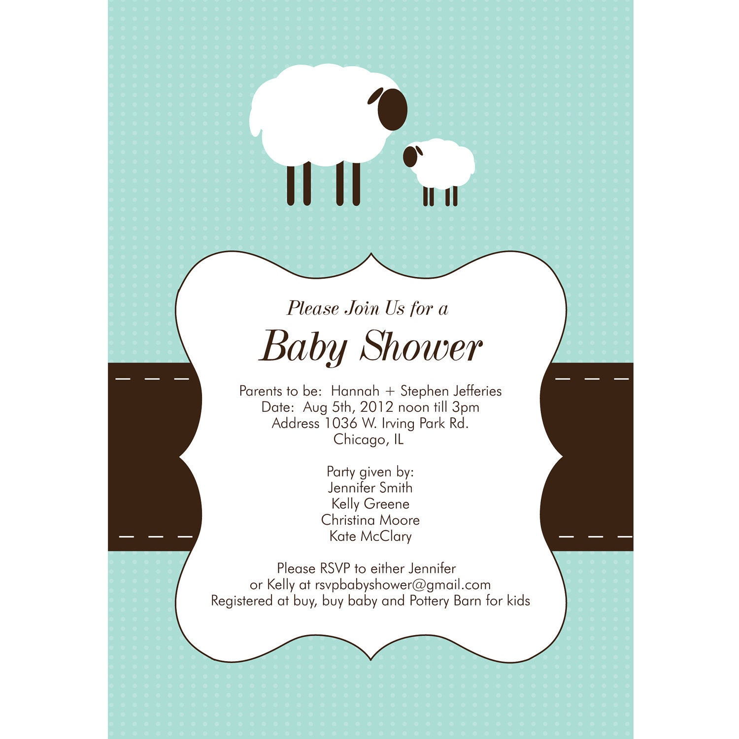 items similar to modern lamb baby shower invitation quantity 25 with
