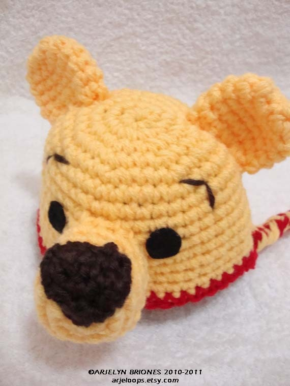 Winnie the Pooh, Tigger, Piglet and Eeyore Amigurumi crochet