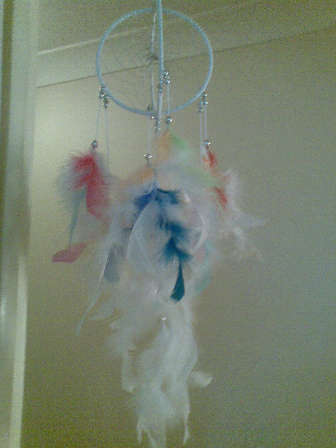 Double Swirl Angel DreamCatcher,5-Inch Rings..