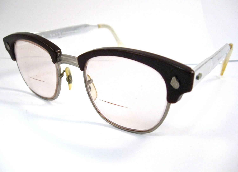 Vintage 50s Eyeglass Frames Mens : vintage mens horn rimmed glasses. retro 1950s by holdenism