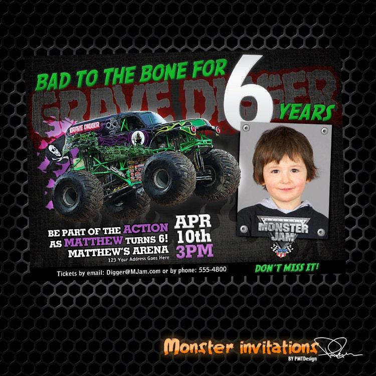 Monster Jam Birthday Invitations is perfect invitations example