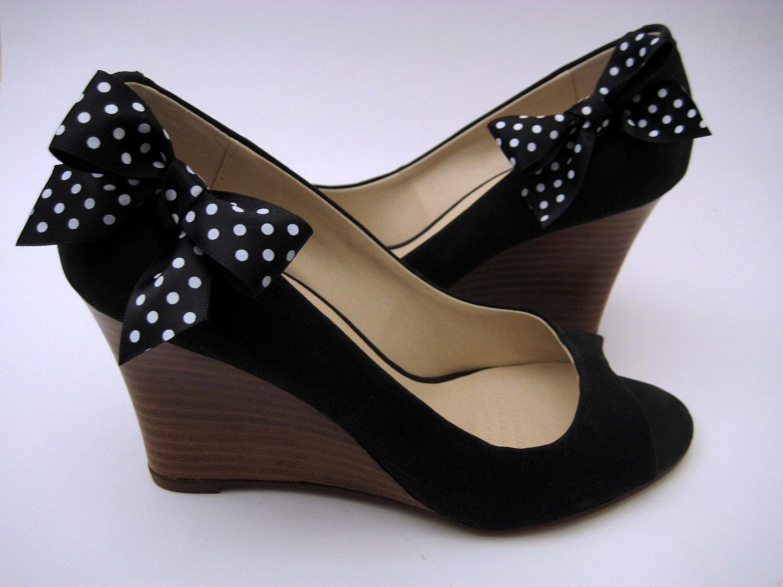 black white polka dot bow shoe free by elizajaneclips