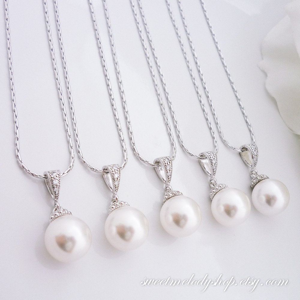 Wedding Gift Necklace : of 3 Bridesmaid Gift Wedding Jewelry Bridesmaid Jewelry Bridal Jewelry ...