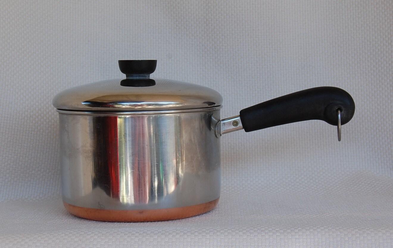 Vintage Revere Ware 3 Quart 1801 Copper Clad By