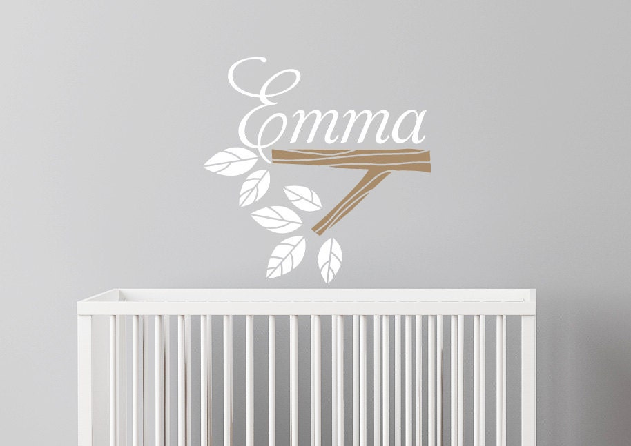 Wall Decal Custom Name - baby girl nursery decal, personalized girls name - CherryWalls