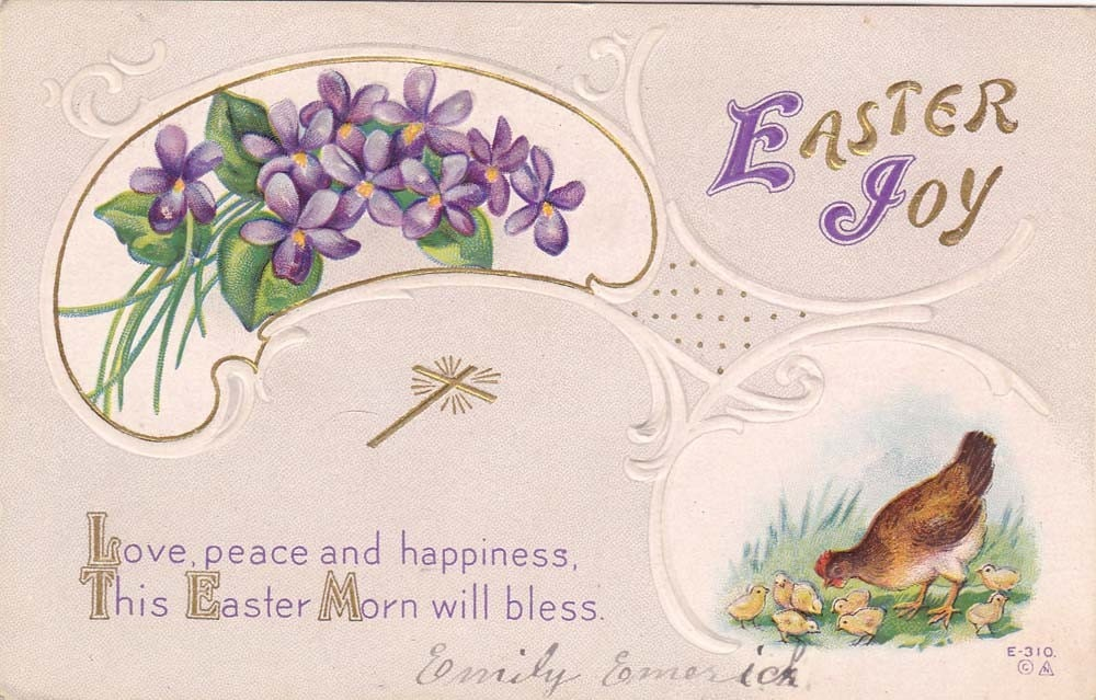Vintage Easter Post Card Early 1900s epc445