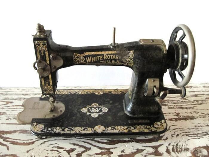 white usa sewing machine