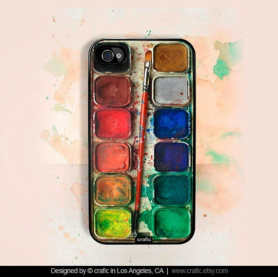 iPhone 4 case iPhone 4s case - Watercolor Set iPhone Hard Case