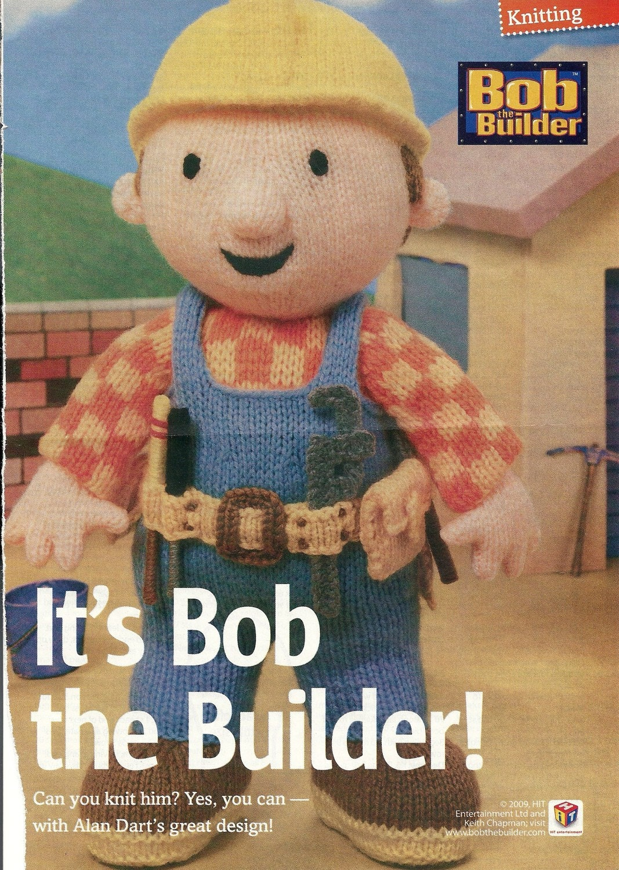 Knitting pattern Bob the Builder by Alan Dart. by Allcraftsles