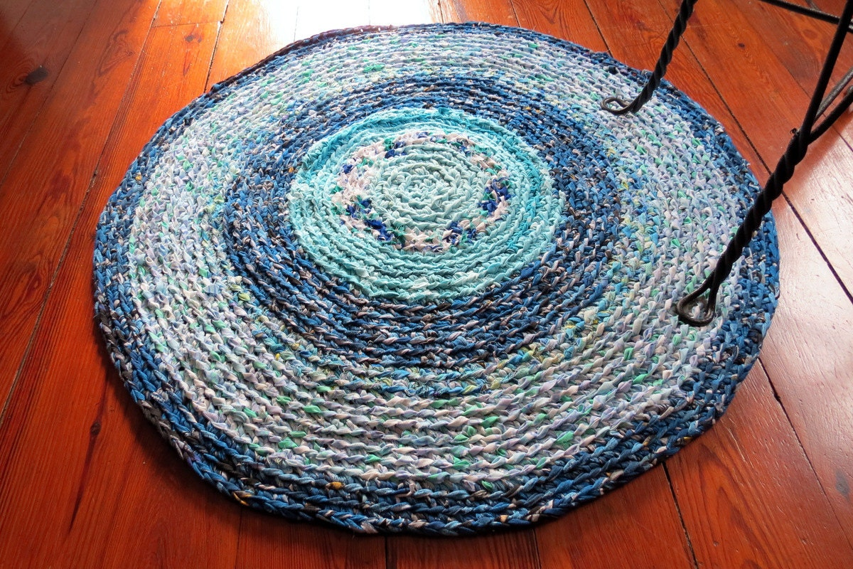 Crocheting Round Rugs : Rag Rug braided crochet by TUPPERRUGS round in by TupperRugs