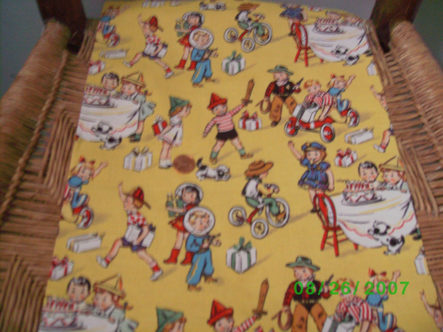 Childrens novelty quilt fabric birthday party on by for Kids novelty fabric