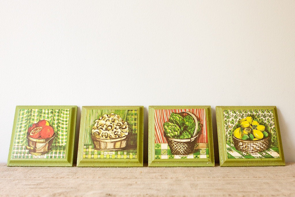 Kitchen Wall Plaques Fresh Garden Baskets Set of 4 by inmyigloo