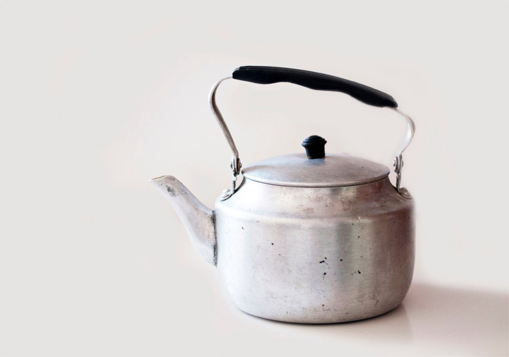 Vintage soviet aluminum kettle