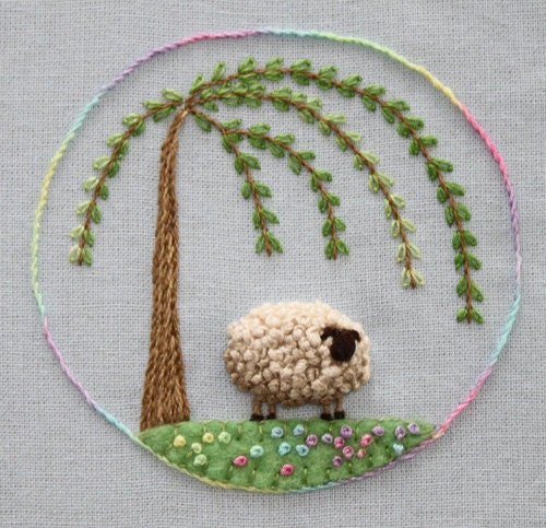 Items similar to stumpwork sheep embroidery pattern on etsy