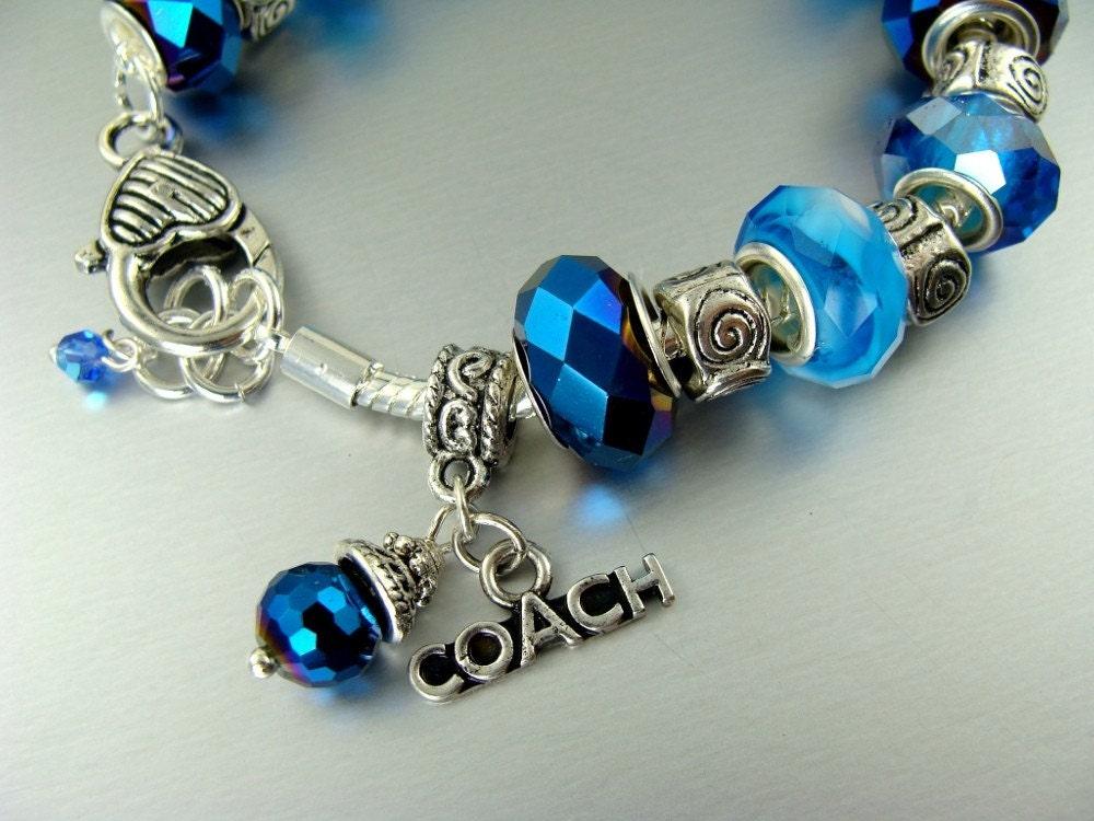 coach pandora like charm bracelets by elorra123 on etsy