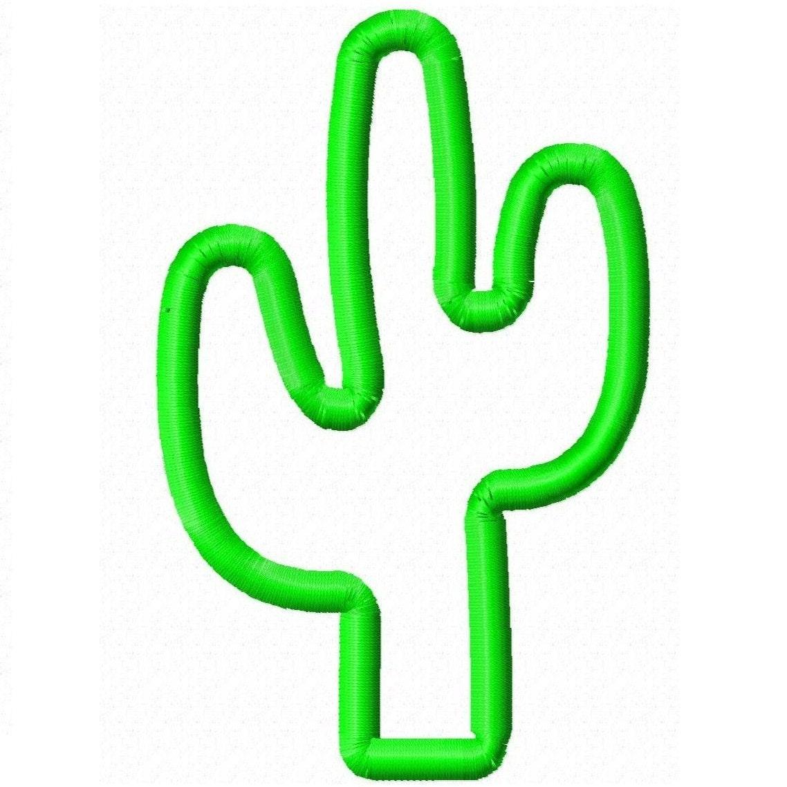 Digitizing dolls cactus applique machine by digitizingdolls