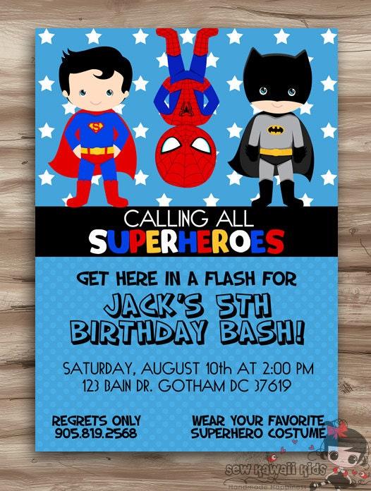 Invitation Anniversaire Spiderman