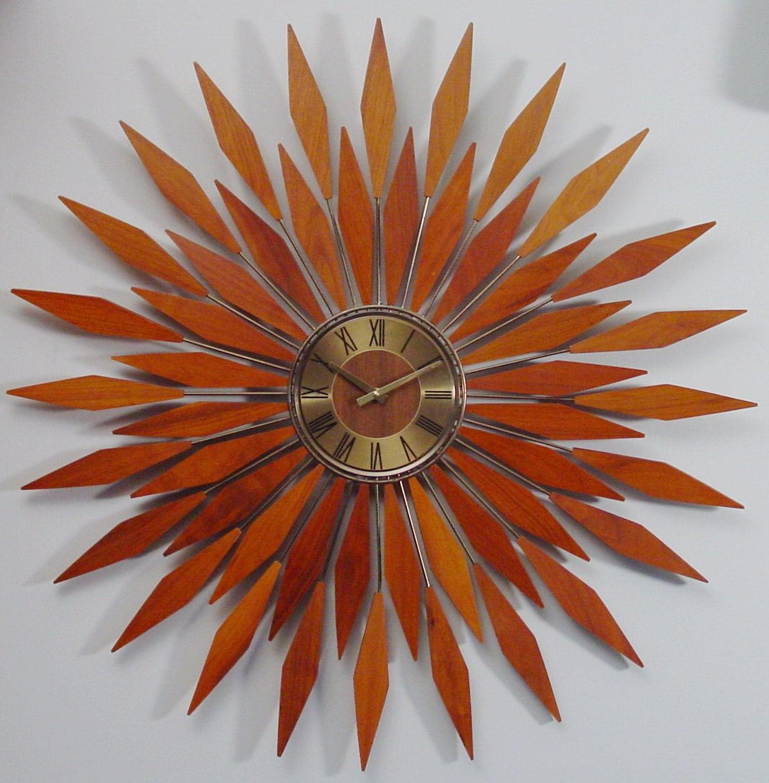 Starburst Wall Clock1960s Mid Century Modern By Clubmoderne