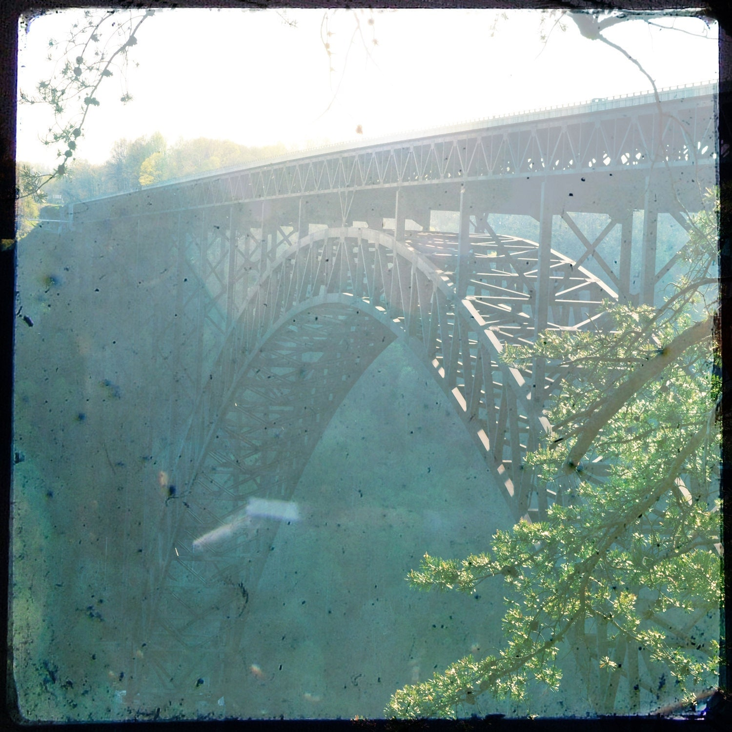 New River Gorge 10x10 Print - RabbitRabbitFinds