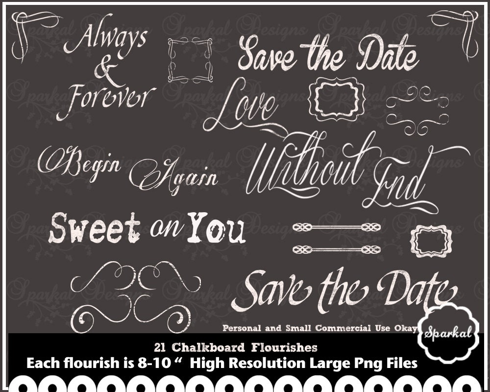 Chalkboard Wedding Quotes Chalk Board Clip Art Rustic Frames Flourishes Instant Download